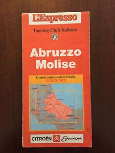 Cartina Stradale Abruzzo Molise.Carta Stradale L Espresso Touring Club Itraliano 1 200000 Abruzzo Molise Ebay