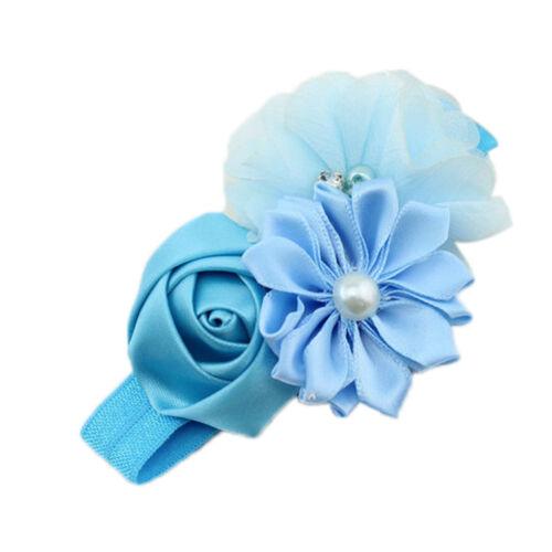 Baby Girl Flower Headband Lace Elastic Headwear Band Headdress Hair Accessories