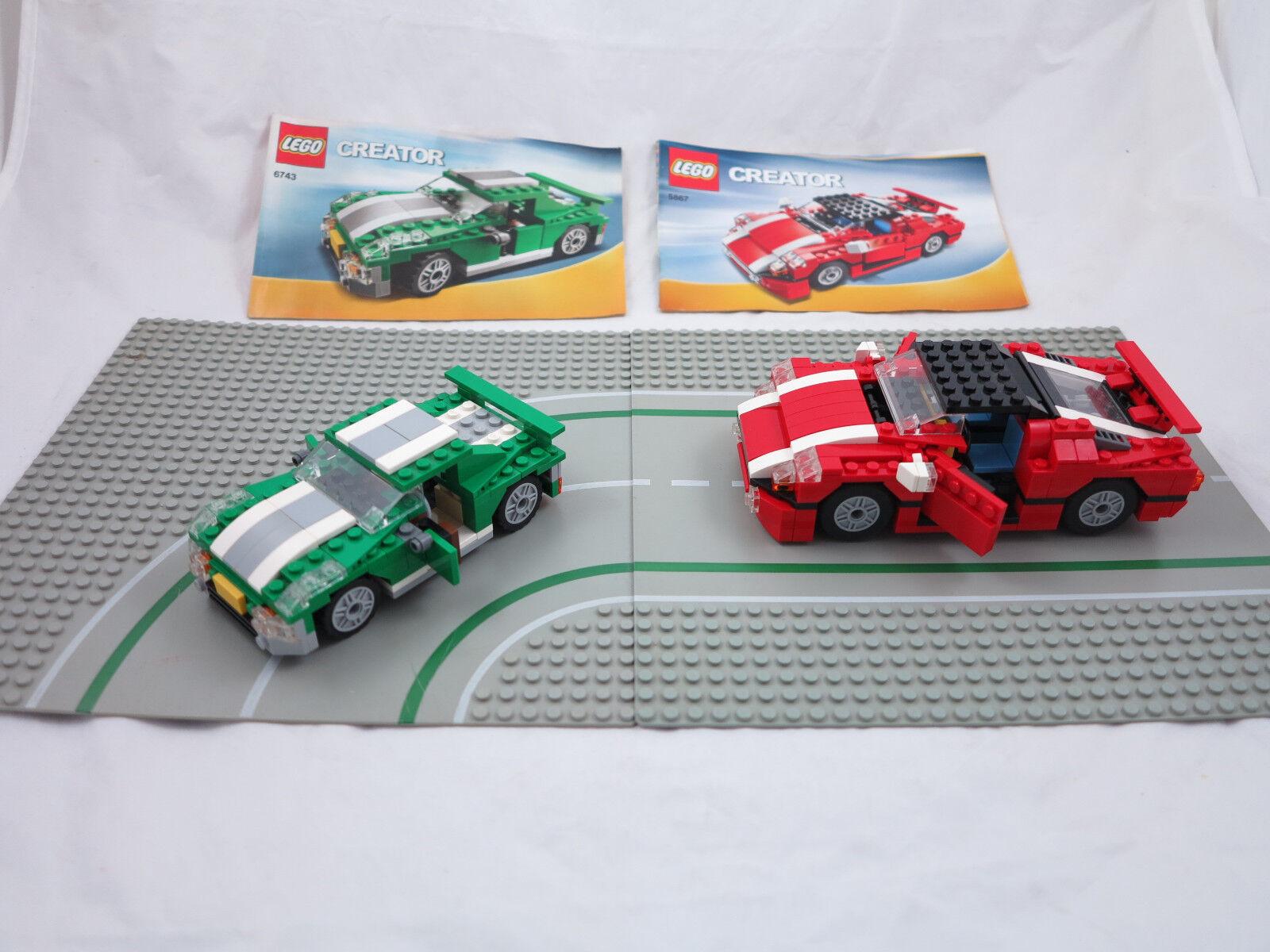 LEGO CREATOR 5867 6743  2x AUTO + 2-piastre  + OBA la raccolta Collezione ( 113)