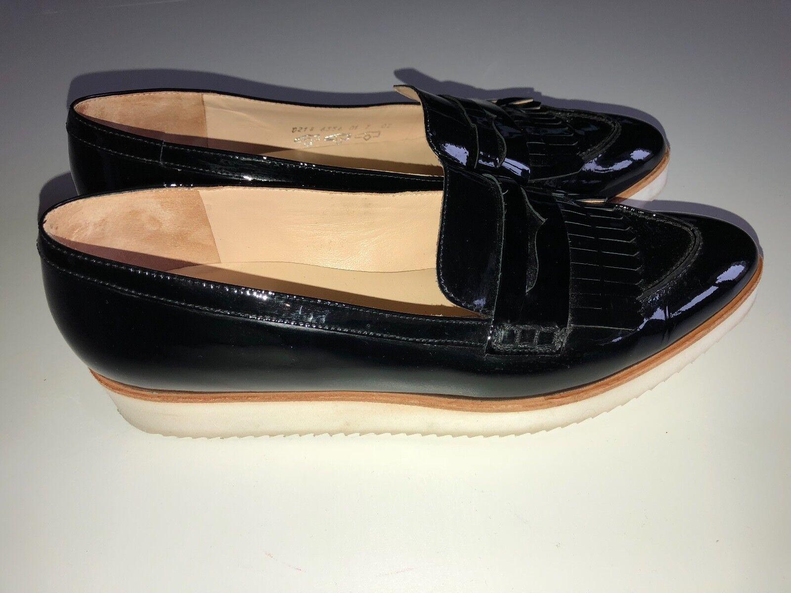 ❤️ HÖGL ❤️ 7 Schuhe Loafer Slipper Lack Schwarz Gr. 7 ❤️ 41 ❤️ 635a70