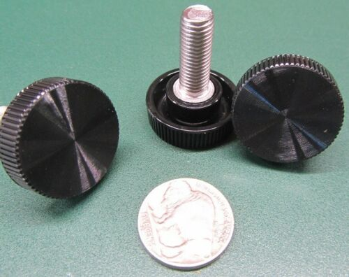 "Plastic Black Stainless Thumb Screw 1/"" Head Dia 10 Pc 5//16/""-24 x 7//8/"" Length"