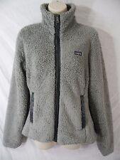 PATAGONIA - Womens M / MEDIUM - Gray Full Zip Long Nap Fleece Jacket - WELL WORN