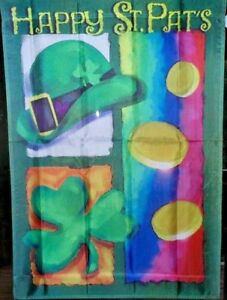 """St. Patrick's Day Collage Large Flag by NCE #66047 28"""" x 40"""""""