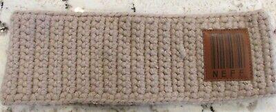 Wide Knit Headband Purple//Brown Skiing Sweatband Hunting Sledding Warm Knit