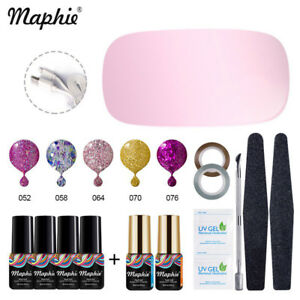 Maphie Nail Art Tools Set 6w Uv Dryer Color Gel Tips Top Base Polish