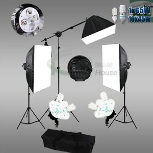 Photography-Video-Continuous-Softbox-Lighting-Soft-Box-Boom-Arm-Light-Stand-Kit