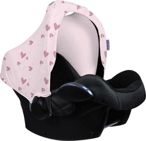 Bidon Hoody Protection soleil pour nacelle bébé Pink Hearts