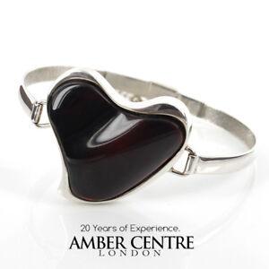 BoX New ELEGANT /& Stylish Cufflinks CHERRY Baltic AMBER /& 925 Sterling Silver