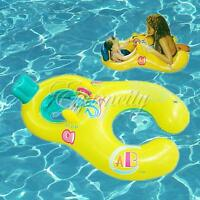 Safe Inflatable Mother Baby Swim Float Raft Kid's Chair Seat Fun Play Ring Pool
