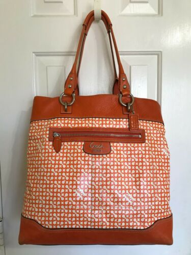 Coach #13453 Penelope OP Art LARGE Tote Handbag Or
