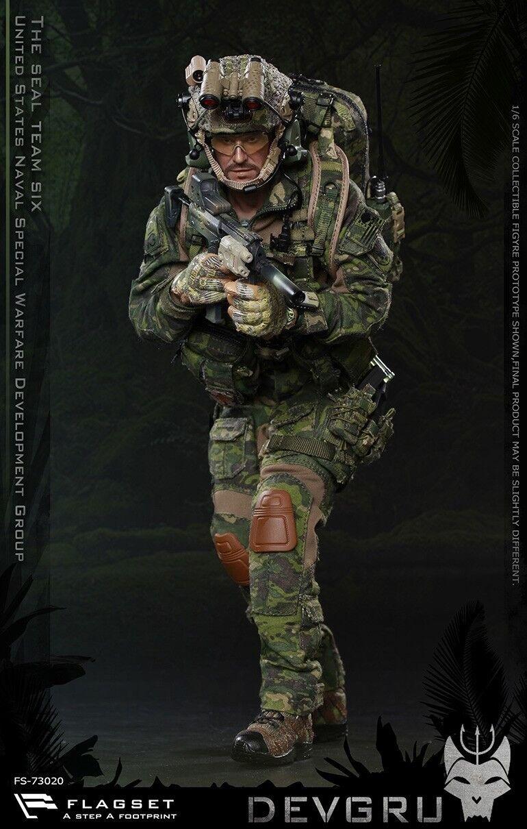 Flagset 1 6th FS-73020 el SEAL Team Six DEVGRU Macho Solider Figura Coleccionable