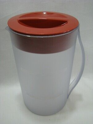 Mr. Coffee Replacement 2 Quart Pitcher for Iced Tea Pot Maker Red Lid TM1   eBay