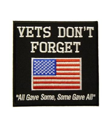 Military Veteran Patches Vet/'s Don/'t Forget U.S Flag Patch
