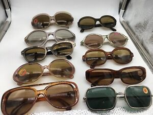 10-X-Vintage-Sunglasses-50er-60er-Mixed-Lot-Collection-Essel-Zeiss-Metzler-Ect