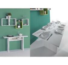 Terraneo Tavolo Consolle Allungabile Opla' Bianco 120x35 70x75 Made In Italy