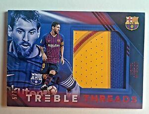 Messi Soccer Card Panini Treble Patch Barca /7.🔥INSANE🔥