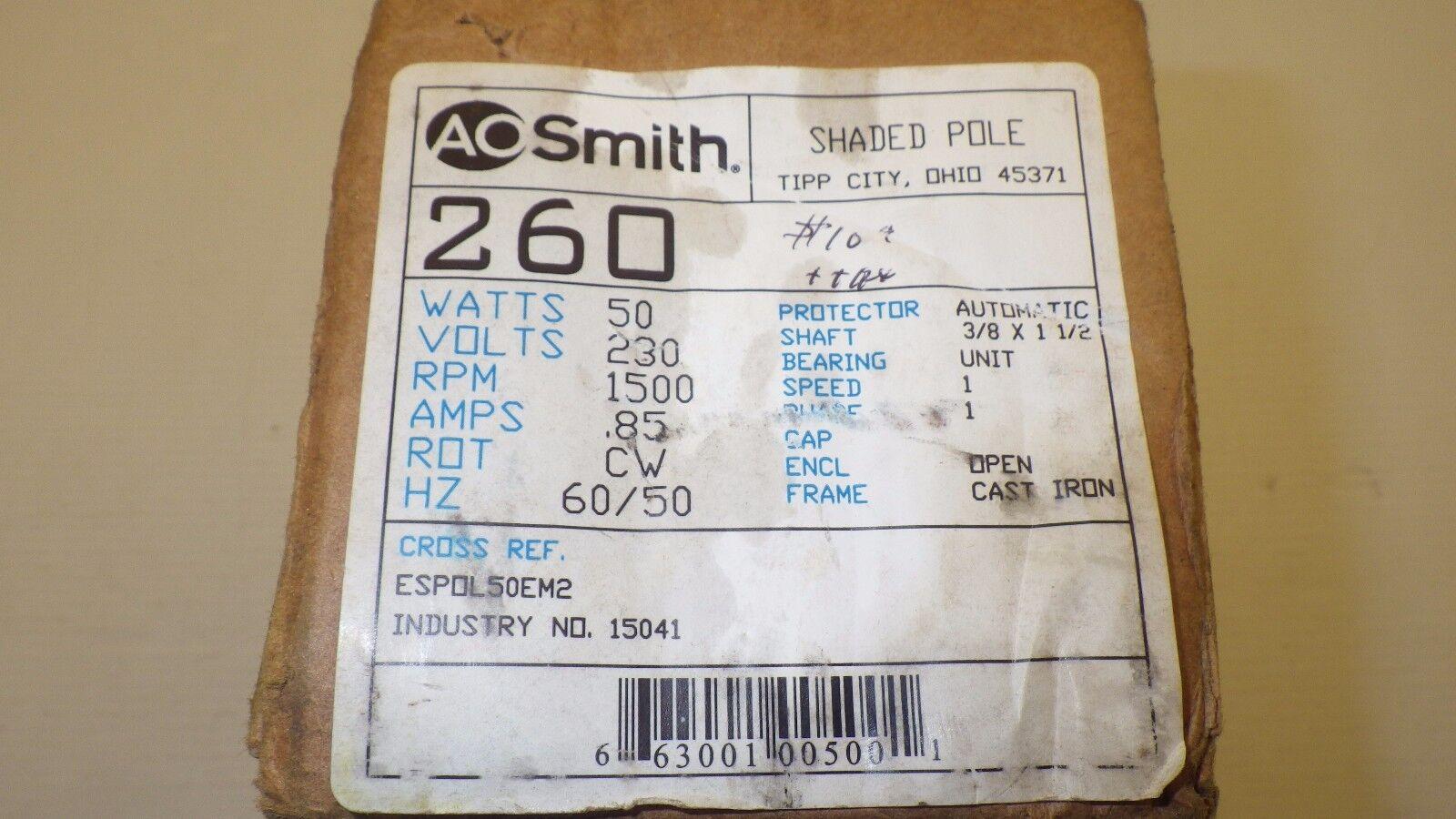 EM&S 15041 reemplazo bearng del motor motor motor del ventilador 50 vatios, 230 voltios, 1500 RMP, Nuevo En Caja a72f23
