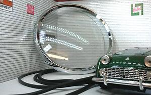 Daimler-Dart-Tacho-5-034-Jaeger-Smiths-Instrument-Messgeraet-REPARATUR-BLENDE-GLAS