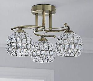 Dunelm-Bergen-Antique-Crystal-Shades-3-Light-Ceiling-Fitting-Brass-A