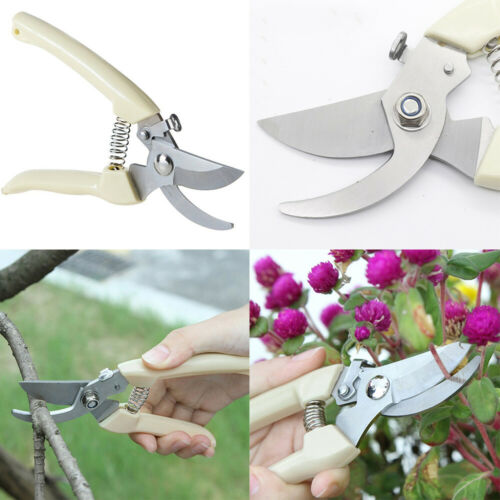 Stainless Steel Plant Trimmer Scissors Cutting Garden Pruning Shears Tool Supply