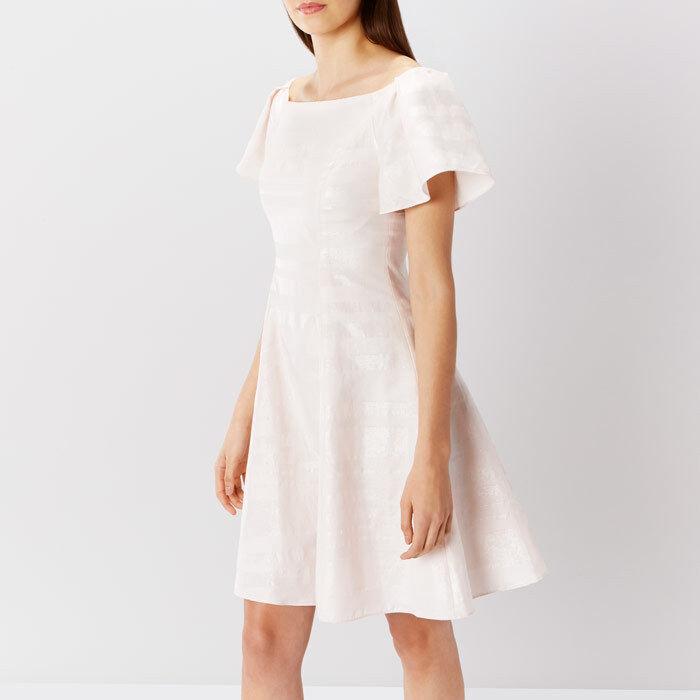 Coast Danielle Lurex Dress D Blaush Größe rrp  SA172 BB 10