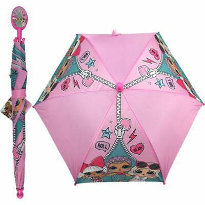 LOL Surprise Kids Toddler Girls Pink Rain Umbrella with Clamshell Handle