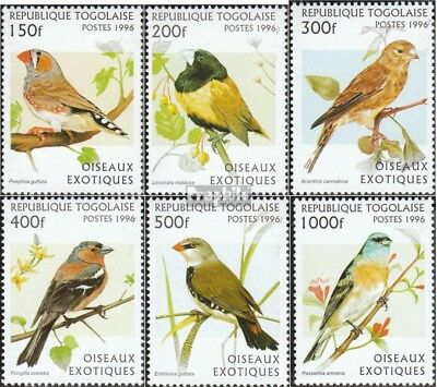 Togo 2473-2478 Unmounted Mint Never Hinged 1996 Birds Products Hot Sale Stamps