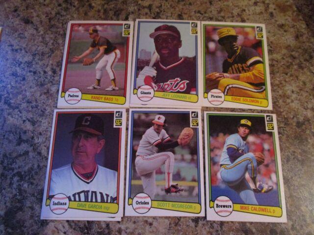 1982 DONRUSS BASEBALL # 331 SCOTT MCGREGOR Baseball Card