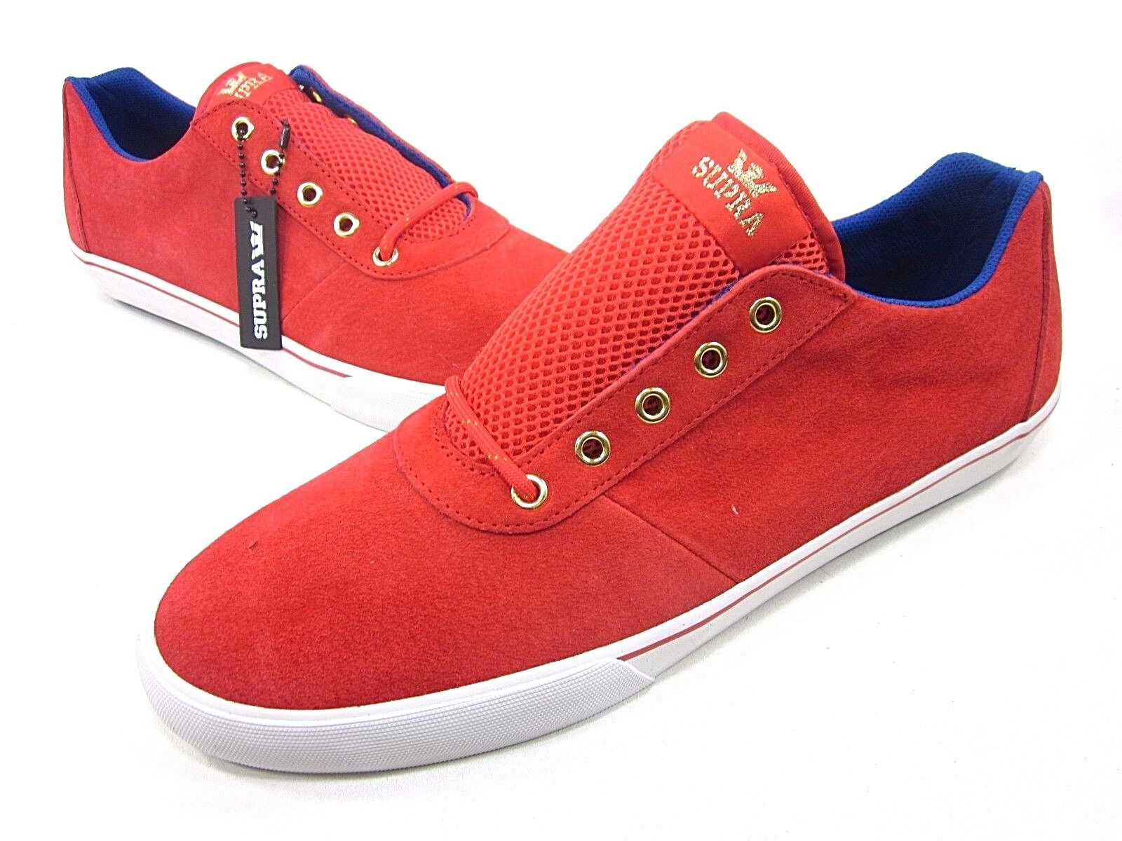SUPRA, THE 2012 LONDON OLYMPICS CUTTLER LOW, MENS, RED  WHITE  blueE, NEW IN BOX