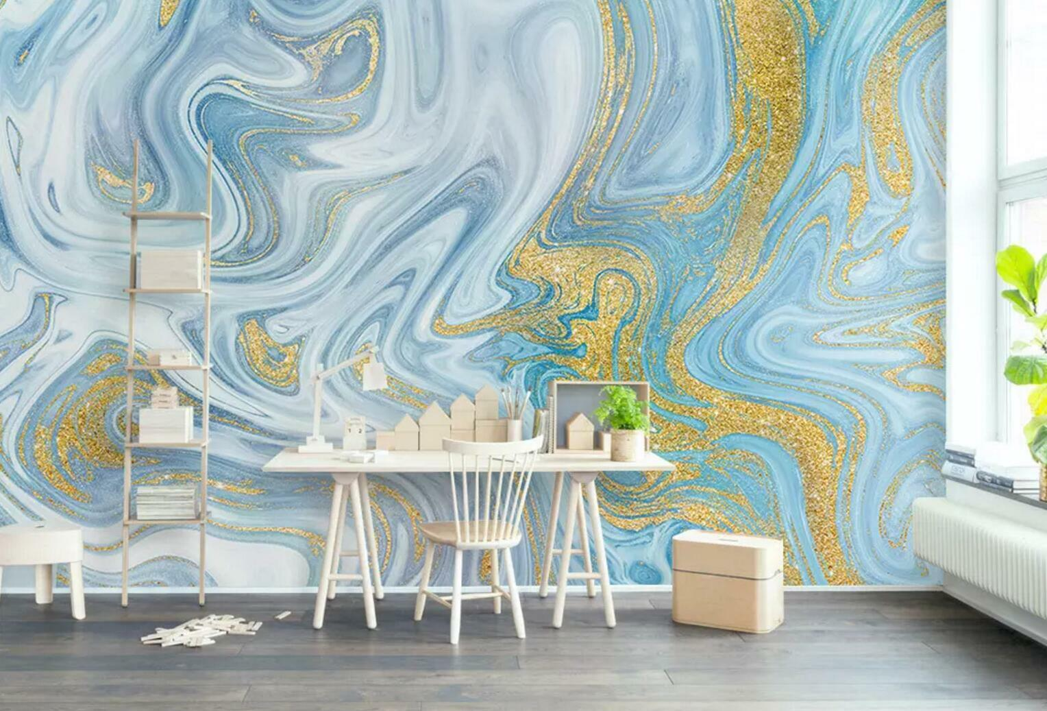 3D Blau Painted 38 Wall Paper Exclusive MXY Wallpaper Mural Decal Indoor wall AJ