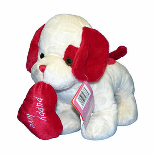 "11"" Puppy Plush Heart Standing Valentine Mother's Day Anniversary NEW"