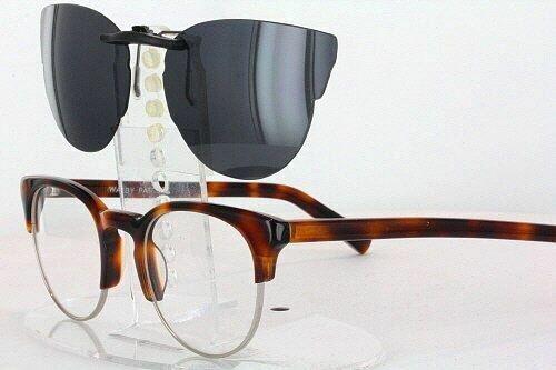 Custom Made for Warby Parker RIPLEY-48X21 Polarized Clip-On Sunglasses Eyeglass