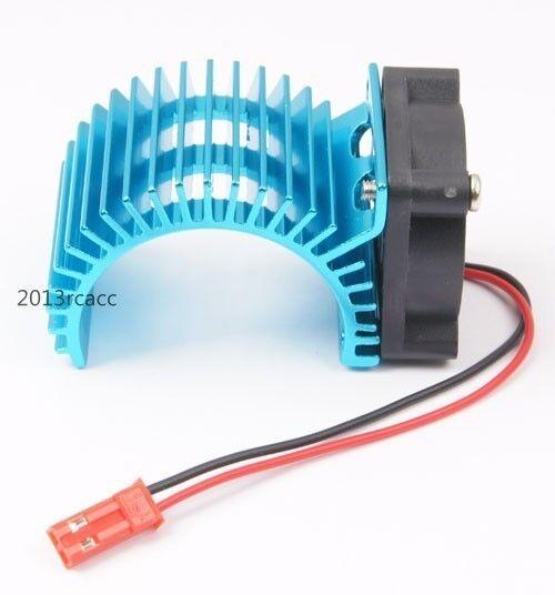 Aluminum 7014 Heat Sink + Fan Cooling Blue Fit RC HSP 1/10 540 550 Motor