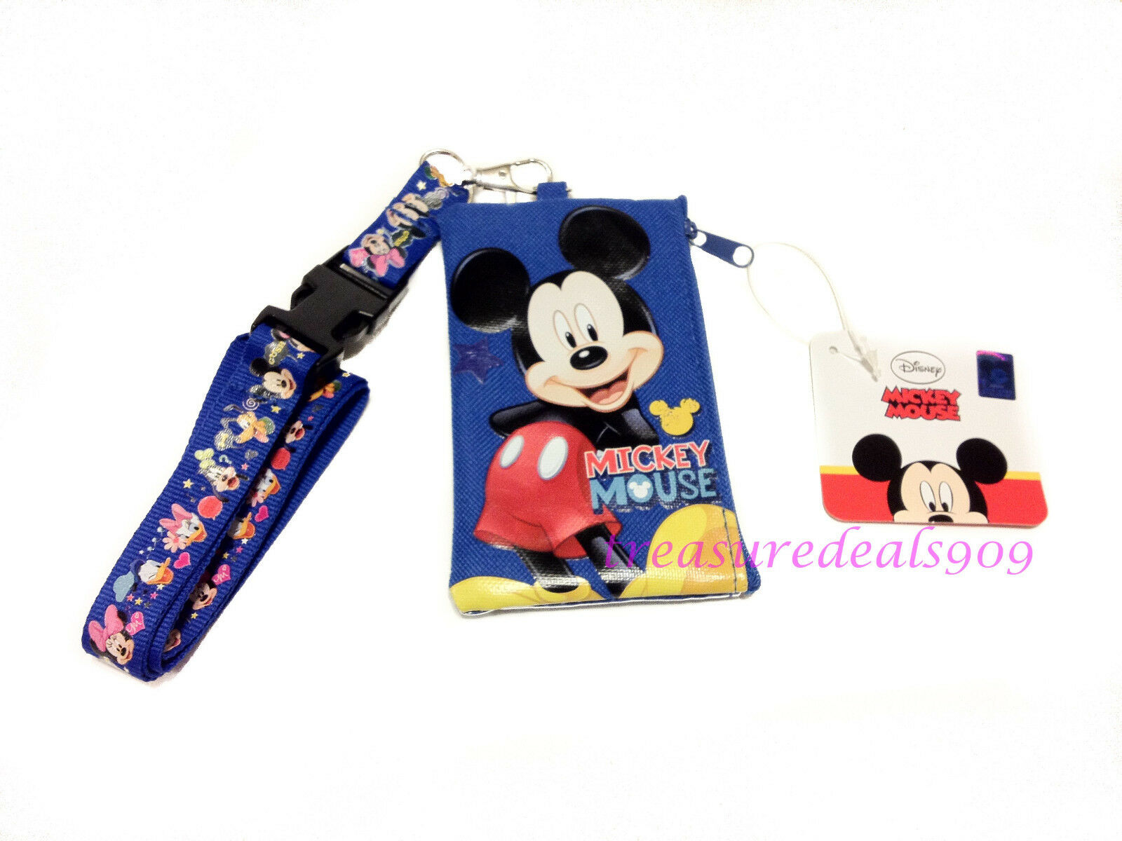 Disney Collection KeyChain Lanyard Fastpass ID Ticket Holders