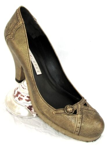 Cuir 40 Excellent Tout Lopez Talons Doré Etat Pura Granit Chaussures Babies PfUqX1T