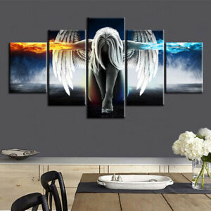Unframed-5PCS-Angel-Art-Oil-Painting-Canvas-Print-Wall-Picture-Home-Decor-CY2Z