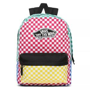 VANS REALM MULTI COLOUR CHECKERBOARD BACKPACK
