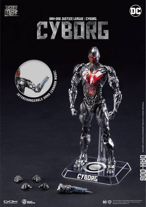 BEAST KINGDOM JUSTICE LEAGUE MOVIE DAH-008 DYNAMIC 8CTION CYBORG FIGURE ACTION FIGURE CYBORG 05be3a