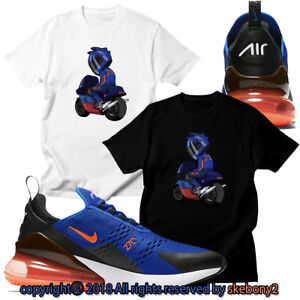 0aa3199b0 NEW CUSTOM T SHIRT matching NIKE AIR MAX 270 blue orange AM270 1-16 ...