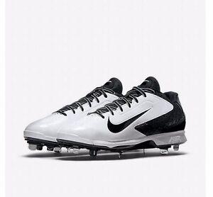 06f70eb47a Nike Air Huarache Pro Low Metal White Black baseball cleat 599233 ...