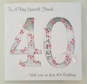 Personalised 40th birthday card friend mum sister auntie 30 50 60 image is loading personalised 40th birthday card friend mum sister auntie bookmarktalkfo Choice Image
