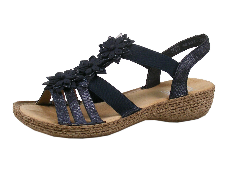 Rieker 65858-14 Schuhe Damen Sandaletten Sandalen