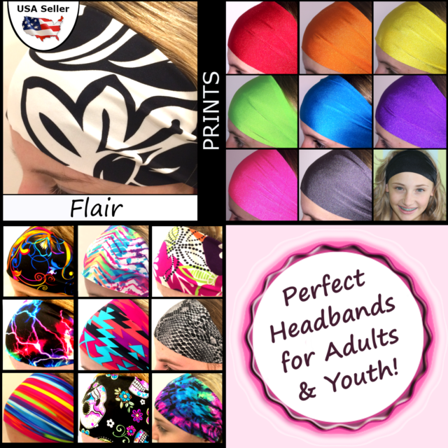 Bolder Wider Chevron Headbands Wide Sports Workouts Fashion Adults Youth Venus