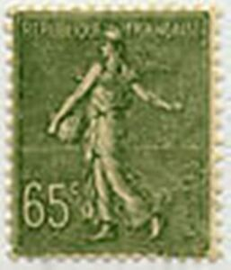 FRANCE-STAMP-TIMBRE-YVERT-N-234-034-SEMEUSE-LIGNEE-65c-OLIVE-034-NEUF-xx-TTB