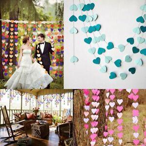 4M-Heart-Paper-String-Garland-Hanging-Bunting-Wedding-Birthday-Party-Decor