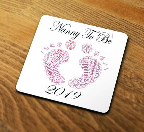 Nanny To Be 2019 Coaster Gift NTB101 Baby Thank You Best Nan Grandma