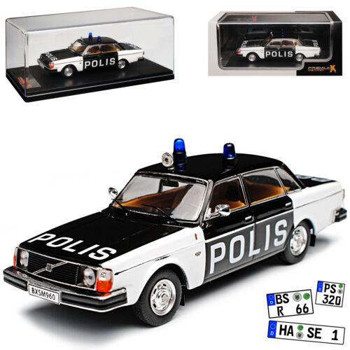 Volvo 244 Limousine Schwarz Weiss Polis Polizei Schweden 1974-1993 1//43 IXO Prem