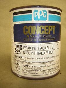 Ppg ditzler dmc925 qt weak phthalo blue mixing toner for Ppg automotive paint store