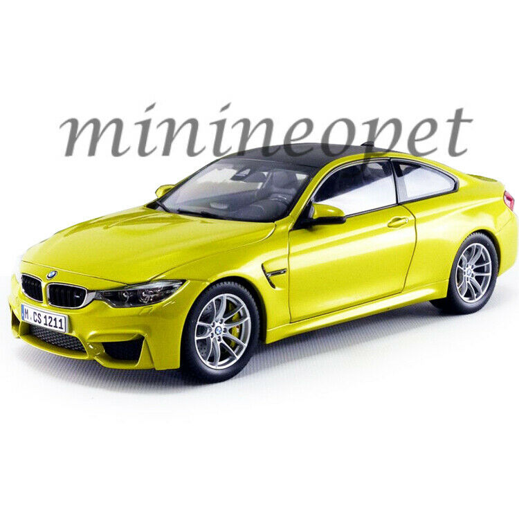 PARAGON 97103 BMW M4 COUPE 1 18 DIECAST MODEL CAR AUSTIN YELLOW with CARBON TOP