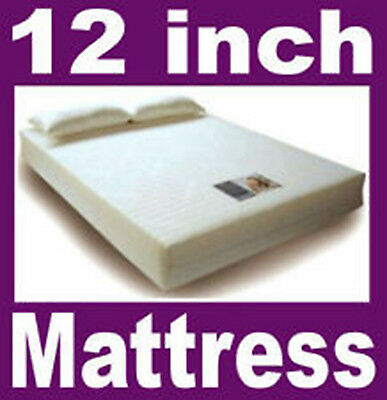 12 inch King bed size Memory Foam Mattress +FREE PILLOWS +FREE COVER + FREE P&P